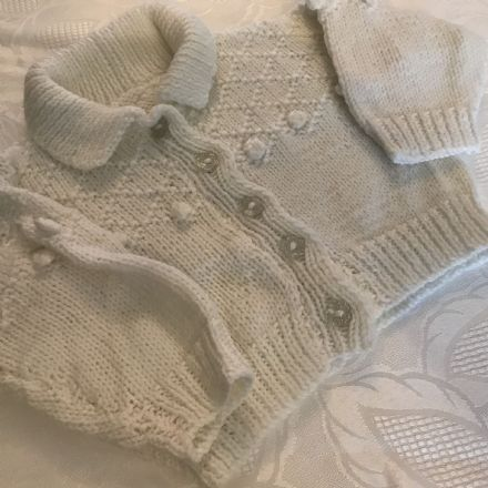 3-6 Month Unisex Cardigan Hand Made